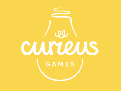 Curieus Games Logo Redesign logotype handmade logo lettering typography type logo redesign logo design logo
