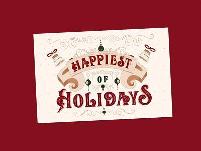 Custom Personal Christmas Cards christmas christmas card design illustration hand-lettering letters handlettering type typography lettering