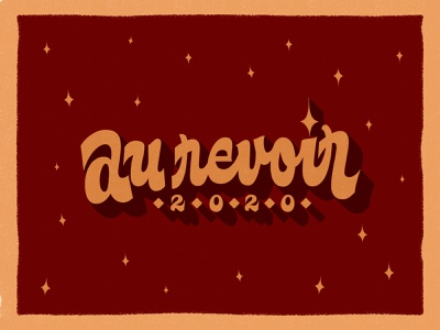 Goodbye 2020 French Version 2020 vector script hand-lettering handlettering typography type lettering