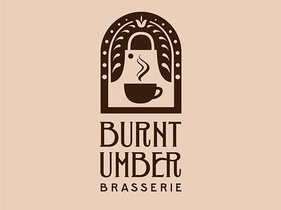 Burnt Umber Brasserie Custom Logo Design brasserie logotype design logotype logo hand-lettering letters handlettering type typography lettering