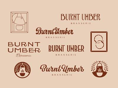 Burnt Umber Brasserie Logo Sketches logo sketches logo design logo logotype branding design hand-lettering letters handlettering type typography lettering
