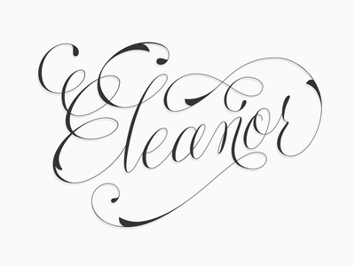 • Day 65 • Eleanor Storm lettering design type typography gray handlettering procreate daily lettering eleanor script lettering