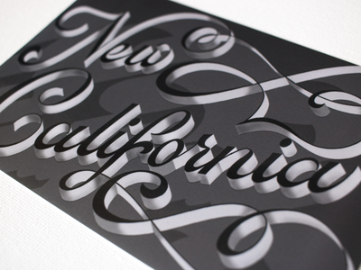 • Day 79 • New California daily lettering practice new california black and white noir dimensional type typography type handlettering lettering