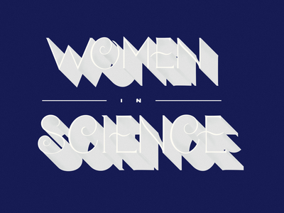 • Day 104 • Women In Science handlettering women in science challenge letters lettering type typography