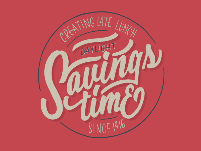 • Day 146 • Daylight savings time handlettering daylight savings time procreate lettering procreate app practice procreate challenge letters lettering type typography