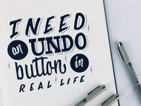 • Day 158 • I need an undo button in real life