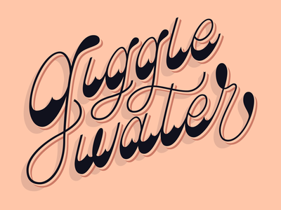 Giggle Water Lettering