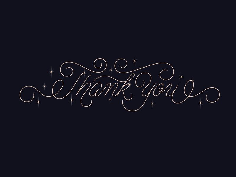Thank You flourishes affinity designer affinitydesigner monoline script hand-lettering letters handlettering typography type lettering