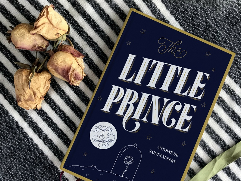 The Little Prince • Personal Book Cover Project book covers hand-lettering letters type typography illustration lettering book cover design book cover book art book