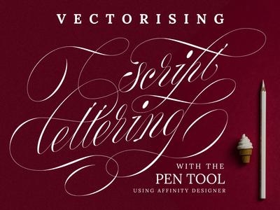 Skillshare class on vectorising script lettering is now live!