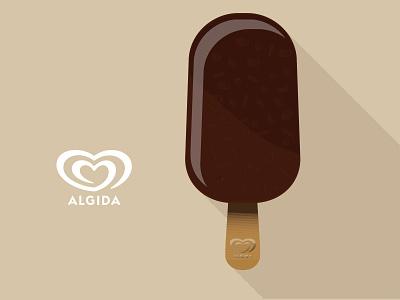 Ice cream - Magnum Algida algida icecream food illustration flat brand branding summer debut