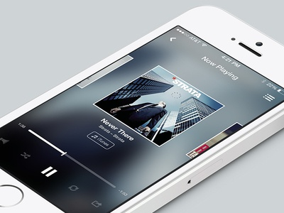 Feully ui interface iphone ux ios7 music feully play song player