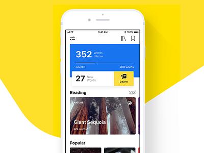 Barney – Learn English ux ui iphone ios words english design app