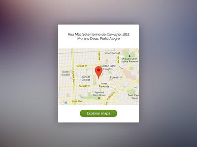 Map Widget flat design geolocation ux ui map widget