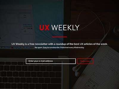 UX Weekly ux weekly website flat big image newsletter