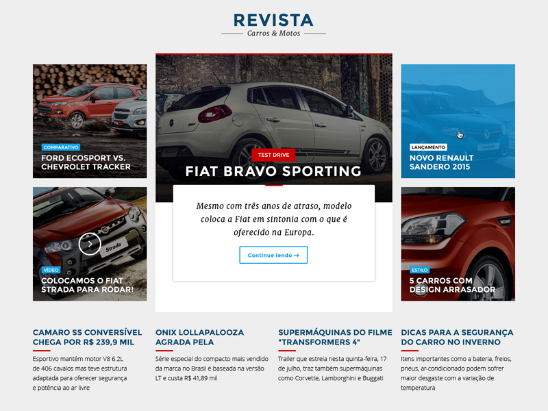 Automotive News ux ui flat design automotive news car magazine cars