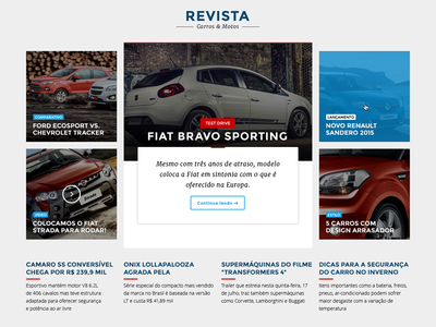 Automotive News ux ui flat design automotive news car magazine cars