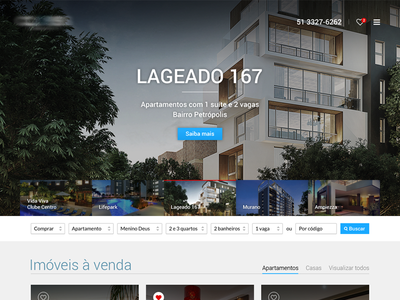WIP Real Estate Website wip ux ui flat design interface real estate