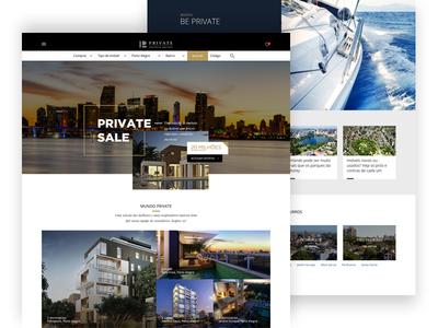 Luxury Real Estate Landing Page design ui homes properties realty page landing estate real luxury