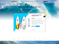 Surfers co landing page dribbble