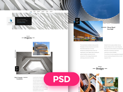 Architecture Free PSD Template fee psd interior design freebie design ui modern download template architecture urbanism architect