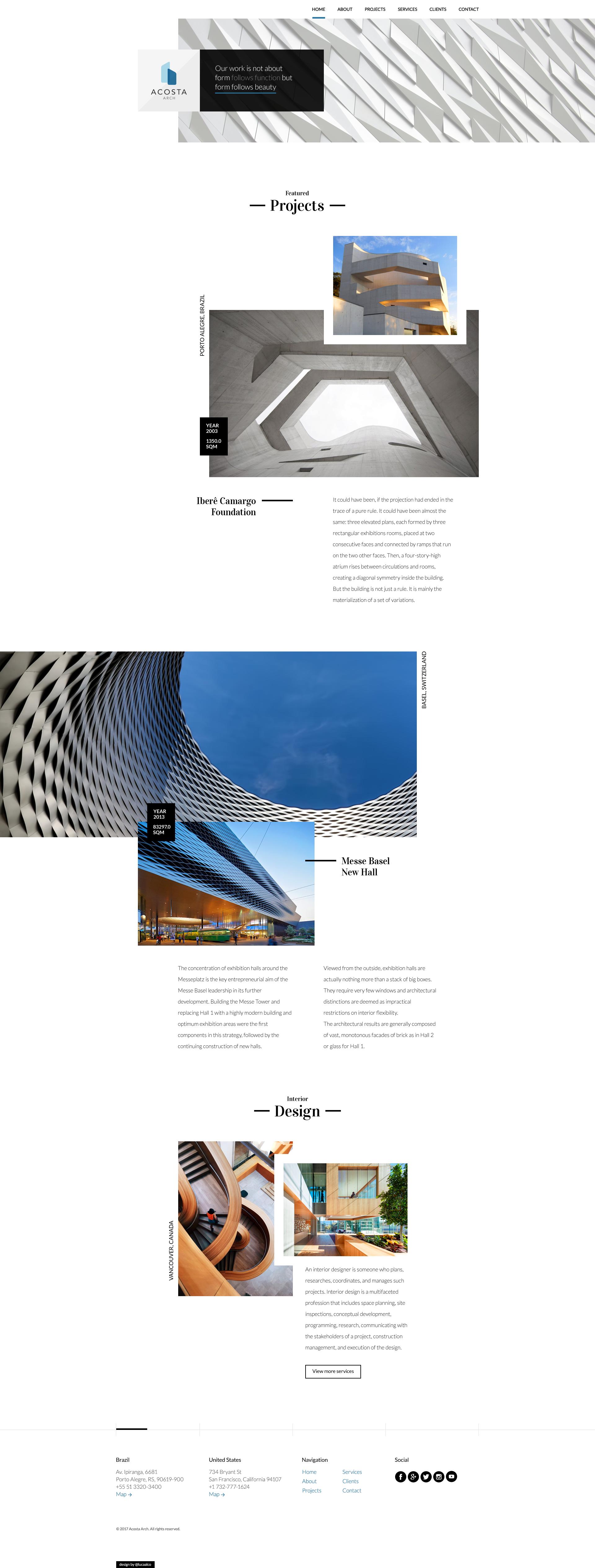 Architecture landing page dribbble
