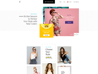 Fashion store landing page dribbble