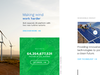 Clean energy landing page dribbble