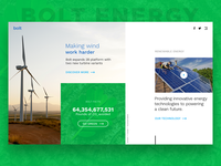 Bolt Energy Landing Page - Daily UI Day 3