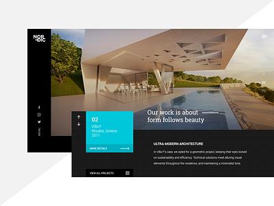 Nordic Architecture Landing Page landing page interior design design web ux ui modern architecture architect