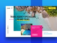 Travel Agency Exploration landing page web design ux ui trip tours island tourism travel