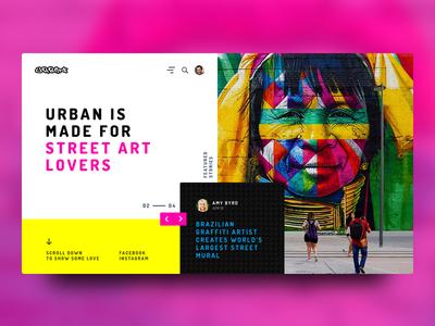Urban - Street Art Magazine golden ratio golden grid street art landing page web design concept creative ux ui magazine urban graffiti