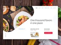 Fooodie Restaurant Website web design resto cuisine flavor ux ui homepage header restaurant food