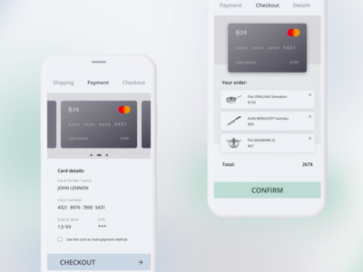 Daily UI 002 // Credit Card Checkout