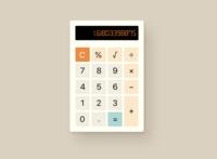 Daily UI 004 // Calculator