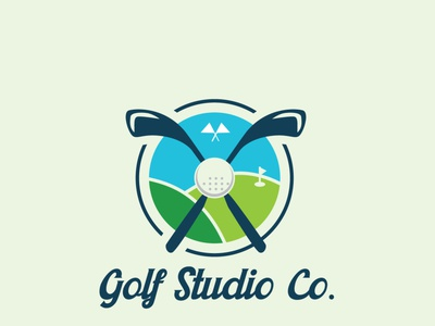 Golf Studio logo ui graphic design custom logo design modern logos versatile logo design professional logo design creative logo business logo design minimal logo design brand and identity logo design
