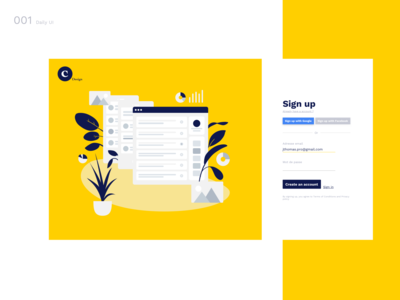 DailyUI N°1: Sign Up