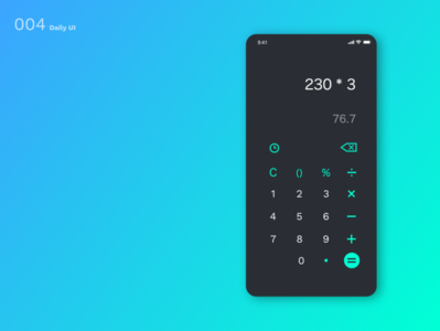 DailyUI N°4 : Calculator