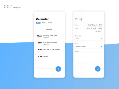 Daily UI N°7 : Settings
