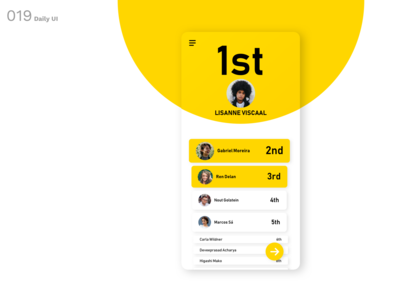 Daily UI N°19 : Leaderboard
