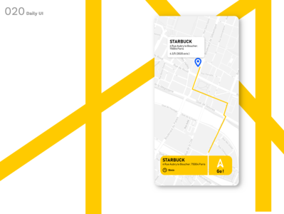 Daily UI N °20 : Location Tracker