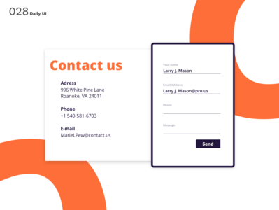 Daily UI N°28 : Contact us