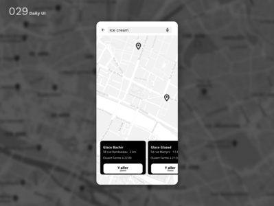 Daily UI N°29 : Map