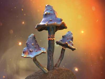 Fungi Mush love 3dsmax texturing texture environment game asset abstract creative marmoset toolbag mushrooms mushroom zbrush substance painter 3d art fungus fungi