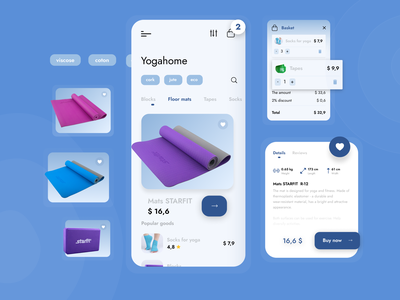 The details Yoga Mobile App yoga app app design ui design
