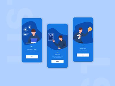 List - Mobile App branding ux app design ui design
