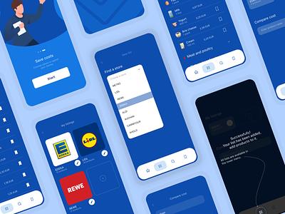 List -  All Screens Mobile App app design illustration ux ui design