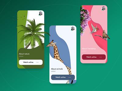 Animals Watch App kino tv watch app design ui design