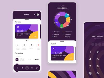 Mobile App- Online Banking finance online banking online bank design transfer bank balance banking app banking ui mobile ui mobile app