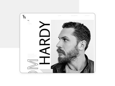 Custom Tom Hardy tomhardy concept grid typography blog ui web design
